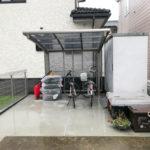 コンクリートの部分利用で使いやすいスペースに【前橋市エクステリア】
