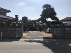 門塀改修/施工前①