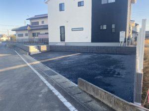 外構工事完成駐車場