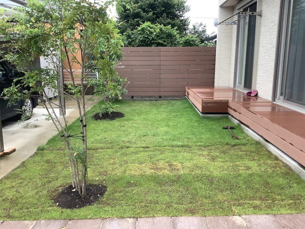外構工事・芝・植栽・フェンス